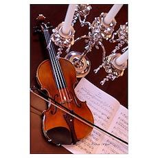 Violin & Candelabra Poster