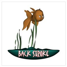 Back Stroke Canvas Art