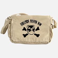 BHNW Skull Duo Messenger Bag