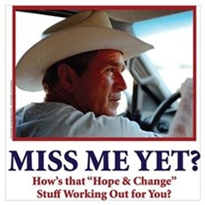 George W Bush, Miss Me Yet? Framed Print