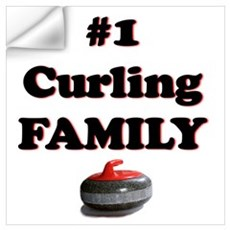 #1 Curling Family Wall Decal