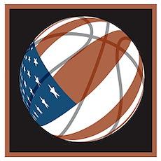 Flag basketball Poster