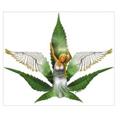 Sativa Goddess! Marijuana! Hemp! Poster