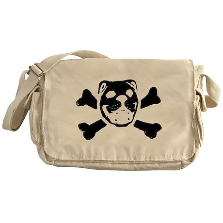 BULLDOG SKULL Messenger Bag