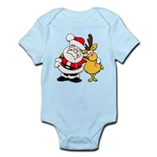 Santa and Rudolph Breast Cancer Awareness Infant B