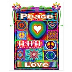 Collage: Peace & Tie Dye Poster