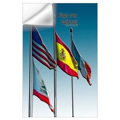 Flags over California Wall Decal