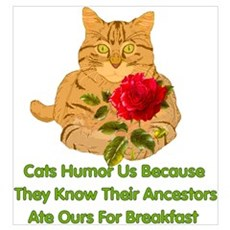 Cats Humor Us Poster