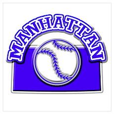 Manhattan Baseball Poster