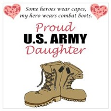Proud US Army Daughter Poster