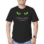 Spooky Cat Face Men's Fitted T-Shirt (dark)