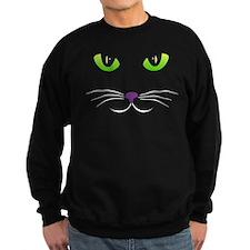 Spooky Cat Face Sweatshirt