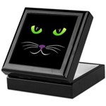Spooky Cat Face Keepsake Box