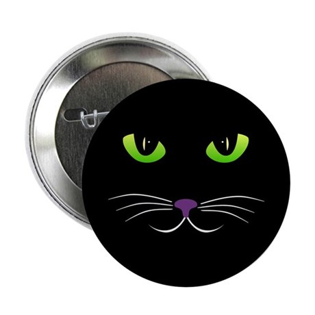 """Spooky Cat Face 2.25"""" Button (10 pack)"""