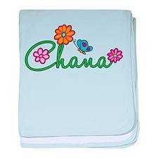 Chana Flowers baby blanket