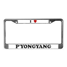 I Love P'yongyang License Plate Frame