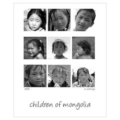Mongolian Children Poster