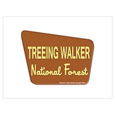 Treeing Walker Poster