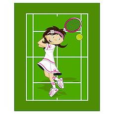 Cute Tennis Girl Poster