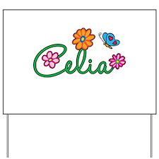 Celia Flowers Yard Sign