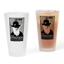 Viva Darwin Evolucion Drinking Glass