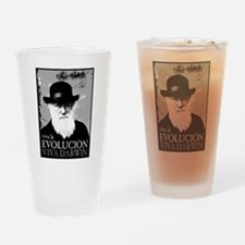 Viva Darwin Evolucion Drinking Glass