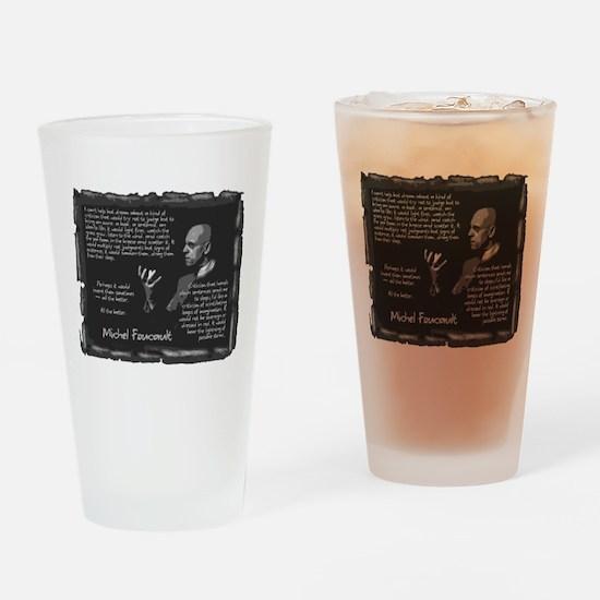 Foucault's Critique Drinking Glass