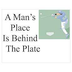 Baseball Plate Poster