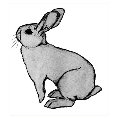Bunny Rabbit Print (Framed) Poster