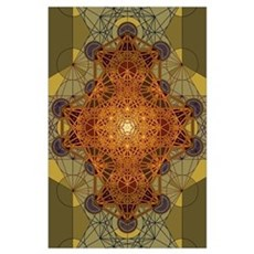 Sacred Geometry Metatron's Cube Mandala Two Poster