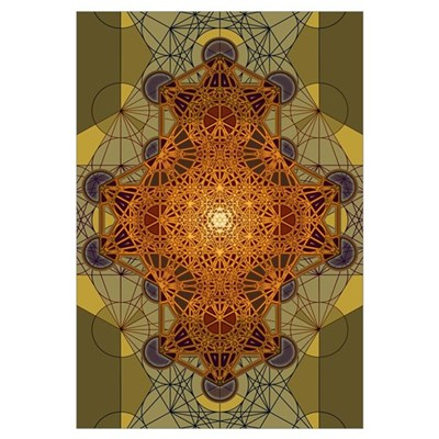 Sacred Geometry Metatron's Cube Mandala Two Framed Print