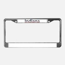 Indiana Stars and Stripes License Plate Frame