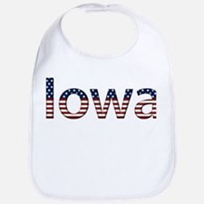 Iowa Stars and Stripes Bib