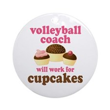 Funny Volleyball Coach Ornament (Round)