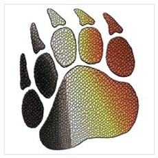 BEAR PRIDE PAW/TEXTURES Poster