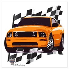Mustang 2005 - 2009 Canvas Art
