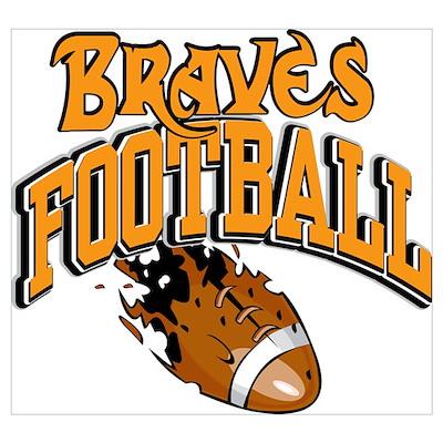 Braves Football Poster