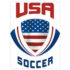 Soccer Crest USA Canvas Art