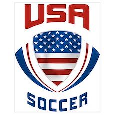Soccer Crest USA Poster