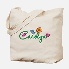 Carolyn Flowers Tote Bag