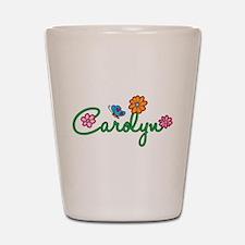 Carolyn Flowers Shot Glass