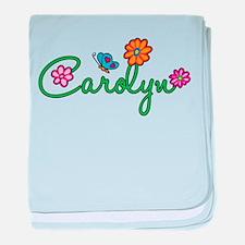 Carolyn Flowers baby blanket