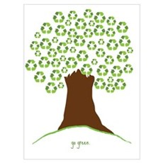 Go Green Tree Canvas Art