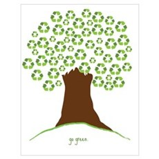 Go Green Tree Poster