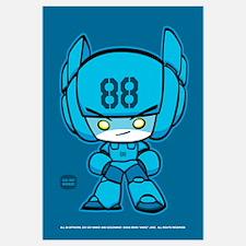 Blue Robot 88 on Blue