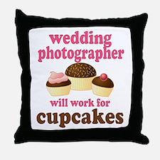 Funny Wedding Photographer Throw Pillow