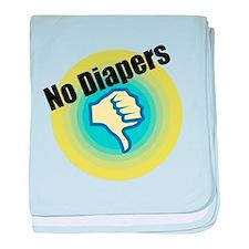 No Diapers baby blanket
