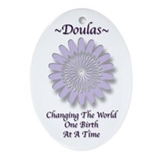 Funny Doula Ornament (Oval)