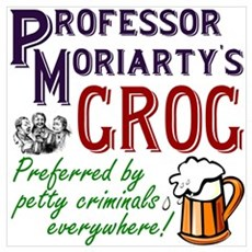 Professor Moriarty's Grog Poster