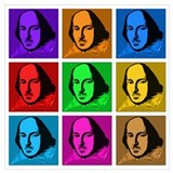 Shakespeare pop art Wrapped Canvas Art